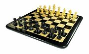 21 X 21 Inch Collectible Ebony Wood Chess Game Board Set + Wooden Crafted Pieces