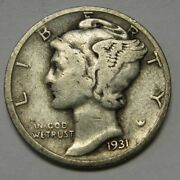 1931-d Mercury Head Silver Dime In Lower Grade Ideal For Beginning Collectors