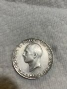 Greece.george Ii.100 Draxmai.nd 1940..900 Silver.only 500 Minded.