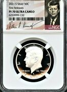 2021 S Silver Kennedy Half Dollar First Releases Ngc Pf70 U.c. Signature