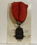 Vintage 1930 The Crest Company Swimming Medal St. Paul 3rd Place 100 Yd Orig Box