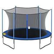 Round Replacement Trampoline Safety Enclosure Net For 12 13 14 15 Ft Frames