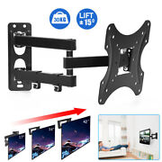Articulating Lcd Led Tv Wall Mount 24-42 Single Arm Tilt Swivel Plate Cord Hook
