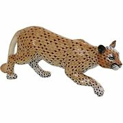 Herend Mountain Lion Porcelain Figurine Reserve Collection
