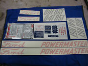 801 841 851 861 Ford Tractor Powermaster Decal Complete Set 🎯