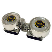 Sea-dog Max Blast Twin Mini Compact Horn 304 Stainless Steel Cover 431125-1 New