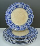 Lot 8 Antique W.h. Grindley Melbourne Flow Blue With Stain Crazing