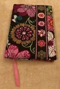Vera Bradley Paperback Book Cover In Mod Floral Pink - Flowers - Ribbon Bookmark