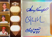 2011 Topps Tripple Threads Autograph Relic Combos Sepia Koufax/kershaw/a Chapman