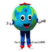 Advertising The Earth Mascot Costume Cosplay Suit Adult Size Party Dress Clothes