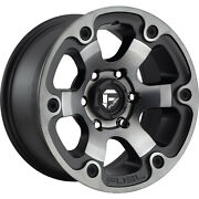 4- 16x8 Black Flake Fuel Beast 6x5.5 +1 Rims All Terrain Ta Ko2 Tires