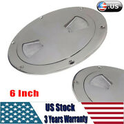 6 Marine Boat Inspection Hatch Round Deck Plate Access Cover 316stainless Steel
