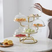 Five-layer Fruit Plate Tray Cake Stand Dessert Storage Rack Basket Containers