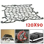 Car Roof Top Rack Mesh Barrier Cover Luggage Carrier Cargo Basket Net And Hooks