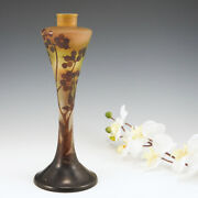 A Galle Cameo Glass Slender Lamp Base C1925