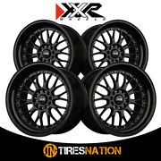 4 Xxr 521 18x10 5-4.5 73.1 Hub 25 Offset Black / Gold Rivets Wheel Rim