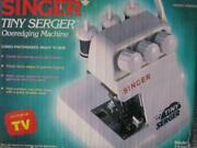 Singer Tiny Serger Ts380a Overedging Sewing Machine In Box Ln Nice Collectable