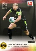 Topps Haaland Hits 50 For Bvb Card - 04/10 Rare Neon Kit Parallel Mint Condition