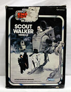 Vintage Star Wars Vehicles Boxed Scout Walker C8 With C4 Box Missing 1 Decal
