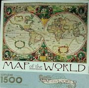 Jigsaw Puzzle Map Of The World 1500 Pc Antique World Map 16th Century Springbok