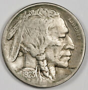 1923-s Buffalo Nickel. Natural Uncleaned. Full Horn. Xf. 159969