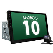 Us Cam+double Din 10.1 Large Screen Android 10 Car Gps Sat Nav Stereo Radio Dsp