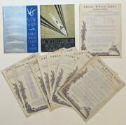 1934 United Fruit Cruise Ship Great White Fleet 2 Brochures, 9 Radio News Papers
