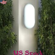 15w 20w Outdoor Oval Round Wall Light Garden Outside Moisture Proof Ceiling Lamp