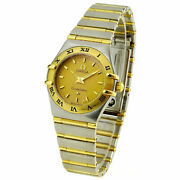 Omega Constellation Mini Stainless Steel And Gold Quartz Wristwatch 1262.10.00