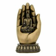 8 Lord Buddha In Hand Palm Bonded Bronze Idol Statue Figurines Antique Finish