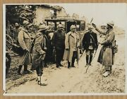 Wwi French Poilu Tells Division General Of Success At Somme Original Press Photo