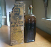 Dr.w.b.caldwell Monticello,ill Emb Large Size 1920s Bottle Partial Label And Box
