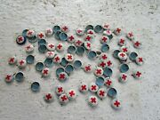 Vintage Lot Of 1920 Red Cross Pins American Art Works Coshocton Ohio Pin