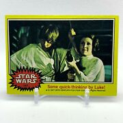 141 Some Quick Thinking By Luke 1977 Topps Star Wars Anh Series 3 Yellow