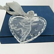 Mikasa Heart Crystal Ornament Angel With Flute