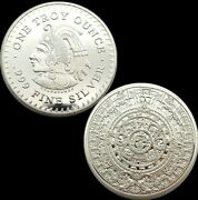 Rare Indian Coin One Troy Ounce .999 Fine Silver Collector Clear Case Mint