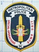 District Of Columbia Metropolitan Police Special Operations Bomb Unit Patch