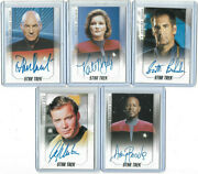 Star Trek 50th Anniversary - Autograph And Costume Relic Card Selection Nm 2017