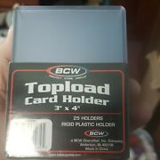 Case 40 Packs Bcw Premium Topload Trading Card Holders Toploaders Heavy Duty