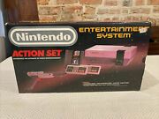 Nintendo Action Set Box Only Original With Styrofoam Manuals And Cable G