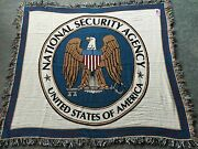 New Full Color Nsa Stadium Blanket National Security Agency Logo Covert Fun Usa
