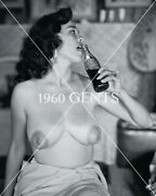 1950s Nude Vogel 2 1/4 Negative Bonnie Logan Busty Pinup Girl Extremely Rare-3a