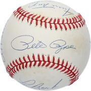 Mlb 3000 Hit Club Autographed Vintage Baseball With 8 Signatures