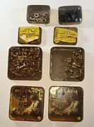 Meccano 4 Tin Small Parts Storage Boxes And Some Contents Vintage Toy Piece's
