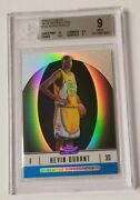 2006-07 Finest Kevin Durant Blue Refractor Rc /299 Bgs 9 Mint W/ 10 Centering
