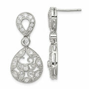 Sterling Silver Cz Antique Style Earrings Qe3224