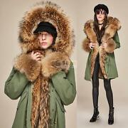 Womenand039s Real Fox Fur Hooded Coat Real Mink Fur Lining Jacket Winter Parkas New Y