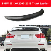 Fit Bmw E71 X6 Suv 2007-13 Real Carbon Fiber Trunk Spoiler Rear Wing Psm Style