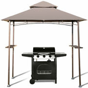 Outdoor Barbecue Grill Gazebo Canopy Tent Patio Bbq Shelter 8'x5'