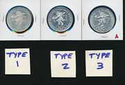 Mexico 1968 - 25 Pesos T1 And Fallon Rings T2 And T3 - All 3 Silver Choice Bu - A